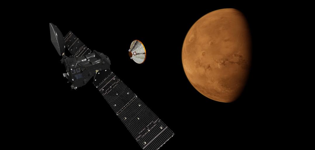 Schiaparelli odłącza się od Trace Gas Orbiter (ExoMars 2016) / Credit: ESA - ATG Medialab