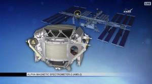 Pozycja AMS-02 na ISS / Credits - NASA TV