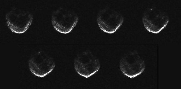 Obrazy radarowe 2015 TB145 z Arecibo / Credits - NAIC-Arecibo/NSF