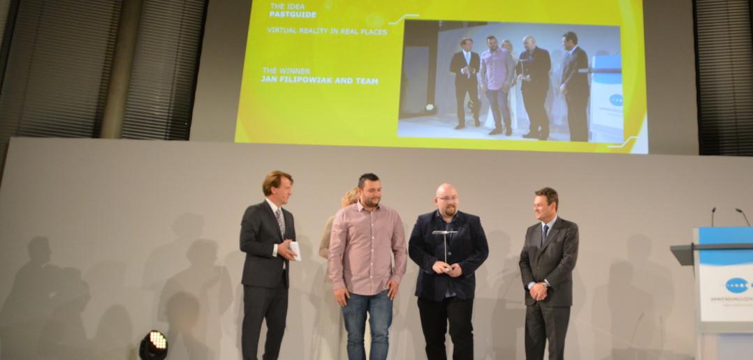 Wręczenie polskiego tytułu Galileo Master twórcom PastGuide na gali w Berlinie, 20 października 2015 / Credit: Kosmonauta.net - Krzysztof Kanawka