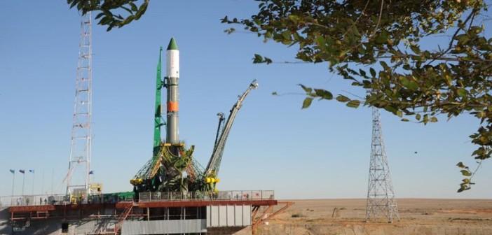 Rakieta Sojuz-U z Progressem M-29M na wyrzutni / Credits - NASA, Roskosmos