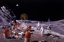 Baza księżycowa - wizja NASA z 1984 roku / Credits - NASA/Dennis M. Davidson