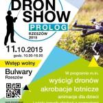 Plakat Dron Show Prolog 2015 / Credits - Centrum Naukowo Technologiczne Systemów Bezzałogowych