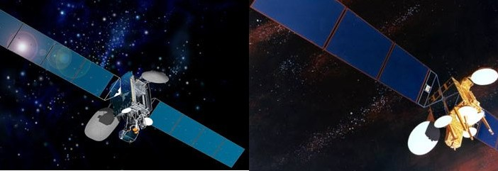 Satelity Intelsat 901 oraz 7 / Credit: Intelsat