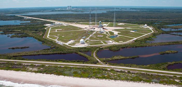 Wyrzutnia 39B w Kennedy Space Center, skąd odbywały się loty Apollo i promów kosmicznych a w najbliższej przyszłości SLS i Oriona, może zostać podtopiona jeszcze w XXI wieku. Źródło: NASA