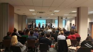 Uczestnicy Startup Weekendu podczas prezentacji swoich pomysłów / Credits: SWS Gdańsk