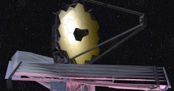 Teleskop Kosmiczny Jamesa Webba wyposażony w 6,5-metrowe lustro zostanie wyniesiony na orbitę przy pomocy rakiety Ariane 5 w październiku 2018 roku. Przez następną dekadę będzie służył jako główne przyrząd obserwacyjny dla astronomów z całego świata. Naukowcy z University of Washington przygotowali indeks, który może pomóc w poszukiwaniach życia na planetach pozasłonecznych. Wizja artystyczna, NASA.