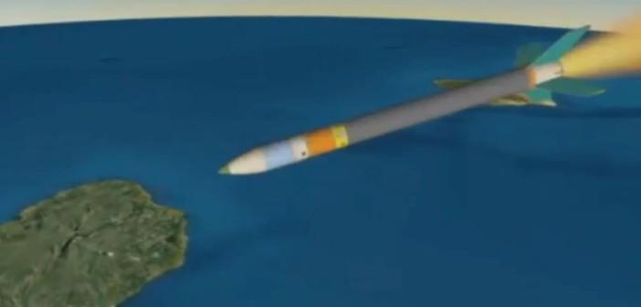 Animacja z lotu Super Strypi, na podstawie telemetrii, sugerująca lot rakiety prawie ku Ziemi / Credits - livestream