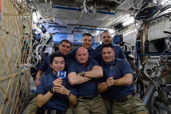 Aktualna (do 11 grudnia) załoga ISS / Credits - NASA