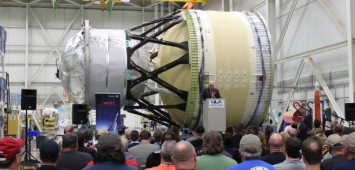 Uroczystość związana z zakończeniem budowy modułu testowego ICPS / Źródło: ULA