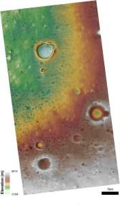 Oxia Planum, topografia terenu. Credits: NASA/MRO/HiRISE/Oxia Planum Team/LSSWG