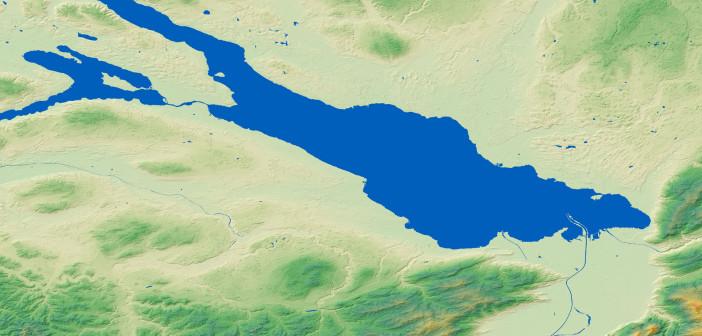 Jezioro Bodeńskie w modelu WorldDEM firmy Airbus DS Geo GmbH