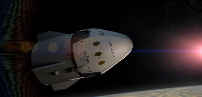 Załogowy Dragon 2 w kosmosie - wizualizacja / Credit: SpaceX