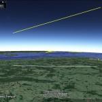 Trajektoria lotu i ślad naziemny bolidu z 31 października / Credit: Pracownia Komet i Meteorów
