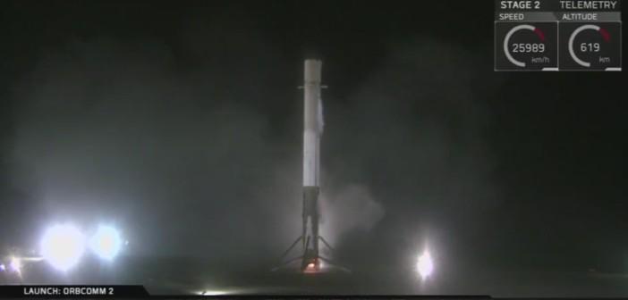 Po udanym lądowaniu pierwszego stopnia Falcona 9R v1.2 / Credits - SpaceX