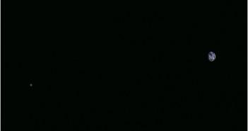 Ziemia i Księżyc sfotografowane przez sondę Hayabusa 2 w dniu 26 listopada 2015 / Credits - JAXA