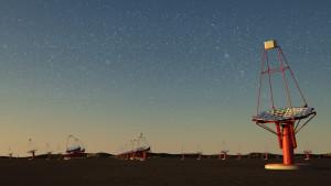 Zestaw anten teleskopu CTA - wizualizacja / Credit: G. Perez, CC-BY-SA 3.0