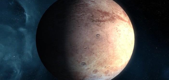 Wizja artystyczna planety karłowatej z zewnętrznego Układu Słonecznego / Credits - NASA