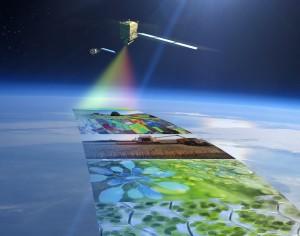 Satelita FLEX (na pierwszym planie) w tandemie z satelitą Sentinel-3 - wizja artystyczna / Credit: ESA/ATG medialab