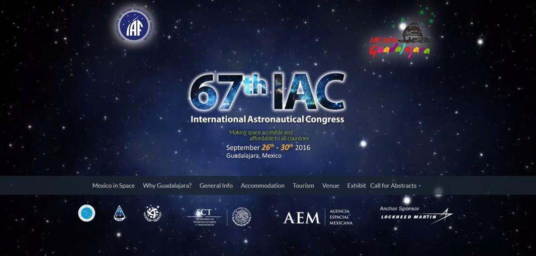 Strona domowa IAC 2016 / Credit: IAF