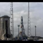 Kadr z odliczania do startu Sojuza STB z dwoma satelitami Galileo / Credits: ESA