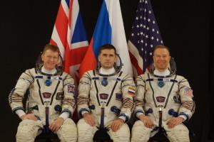 Załoga Sojuza TMA-19M: Timothy Peake, Jurij Malenczenko oraz Timothy Kopra