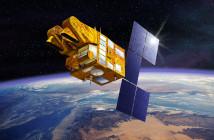 SPOT-5 na orbicie okołoziemskiej - wizualizacja / Credit: CNES, D. Ducros