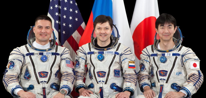Załoga Sojuza TMA-17M / Credits: Roskosmos
