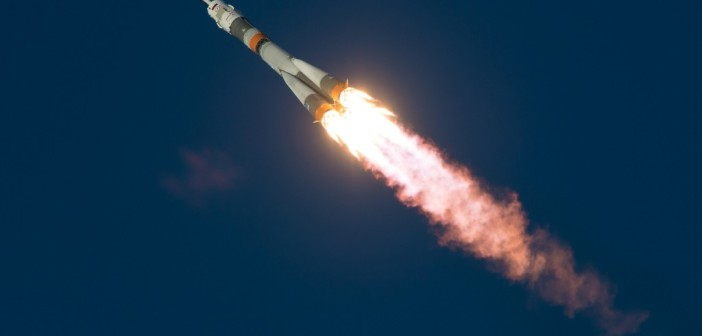 Start Sojuza TMA-19M / credits: ESA/Rosaviakosmos