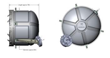 Ogólny wygląd śluzy zamontowanej do Node-3 / Credits - Nanoracks