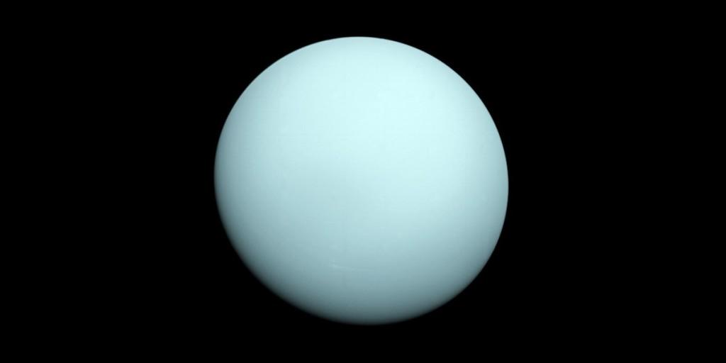 Uran z sondy Voyager 2 / Credits - NASA/JPL-Caltech