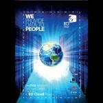 Plakat związany z projektem EO Cloud Testbed Poland / Credits - Creotech