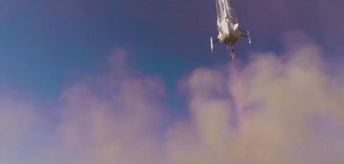 Lądowanie New Shepard - 22 stycznia 2016 / Credits - Blue Origin