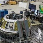 Skorupa przedziału załogowego statku Orion w trakcie prac w listopadzie zeszłego roku / Źródło: NASA