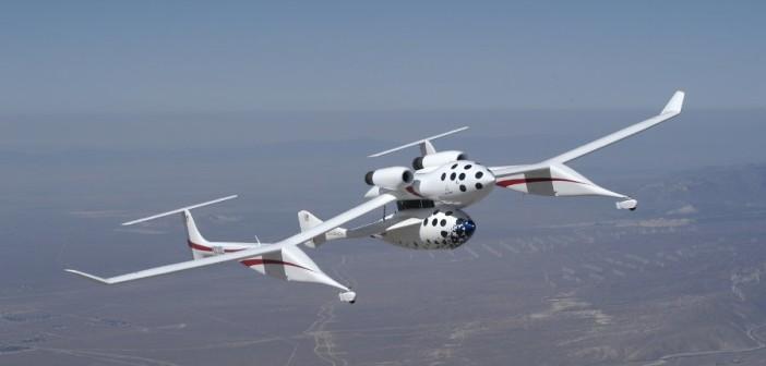 SpaceShipOne pod samolotem WhiteKnight / Credits - Scaled Composites