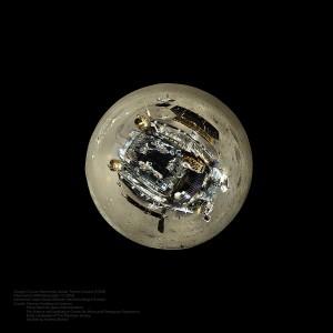 """""""Yutu na maleńkiej planecie"""", w tym wypadku oczywiście Księżycu. Źródło: Chinese Academy of Sciences, Chinese National Space Administration, Emily Lakdawalla."""