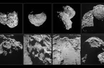 Róźne ujęcia komety 67P/Czuriumow-Gierasimienko (67P) wykonane przez sondę Rosetta / Credits - ESA/Rosetta/NavCam