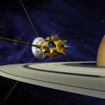 Artystyczna wizja sondy ponad pierścieniami Saturna / Źródło: NASA/JPL – Caltech