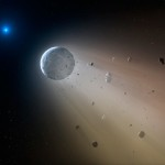 Rozrywanie WD 1145+017 b / Credits - Mark A. Garlick / Harvard-Smithsonian Center for Astrophysics