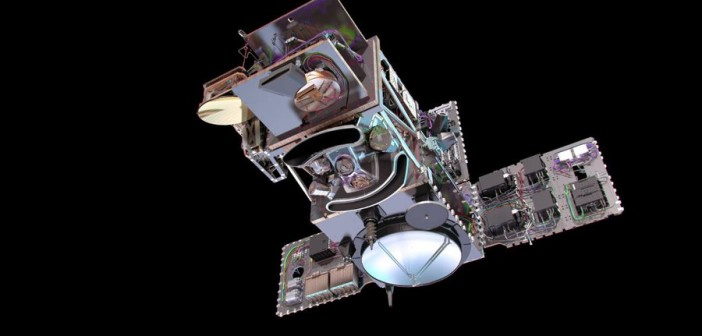 Satelita konstelacji Copernicus - Sentinel-3A / Credits - Thales Alenia Space