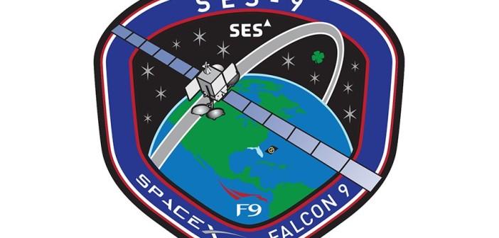 Logo startu rakiety Falcon 9 i SES-9 / Credits - SpaceX