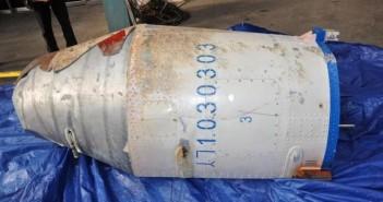 Odzyskany element rakiety Unha-3