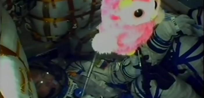 Ujęcie z wnętrza kapsuły Sojuz TMA-20M podczas startu / Credits - NASA TV