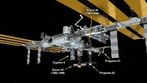 AKtualny wygląd ISS, po dołączeniu pojazdu Cygnus / Credits - NASA
