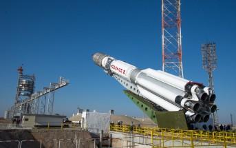 Pionowanie rakiety Proton z sondą ExoMars 2016, 11 marca 2016 / Credit: ESA - B. Bethge