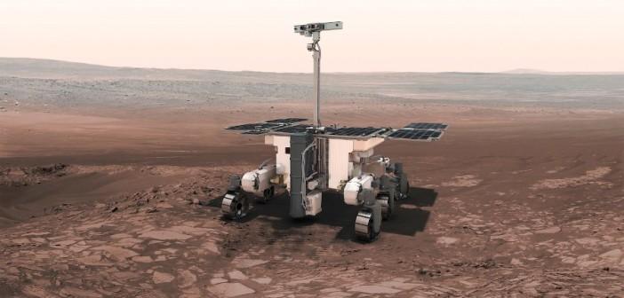 Wizja łazika ExoMars na powierzchni Czerwonej Planety / Credits - ESA