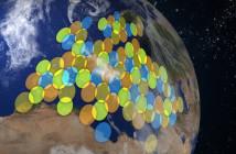 Pokrycie Europy wiązkami HST satelity KA-SAT
