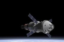 Orion z Europejskim modułem serwisowym oraz górnym stopniem rakiety SLS / Credits: NASA