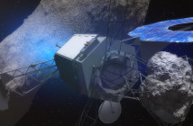 Sonda ARM z fragmentem asteroidy / Credit: NASA