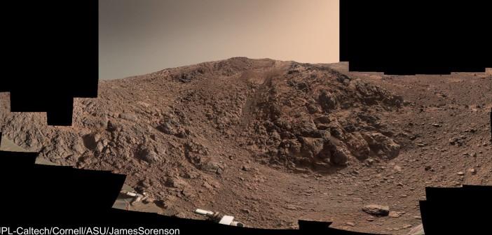 Grań Knudsena sfotografowana przez łazik Opportunity, Mars / Credit: NASA, JPL-Caltech, Cornell, ASU, James Sorensen